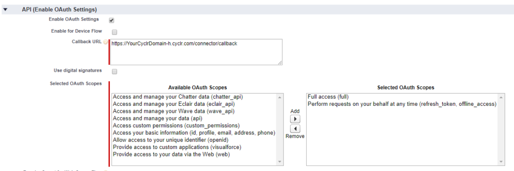 Salesforce OAuth Partner Setup